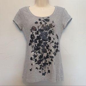 White House Black Market Floral T Shirt